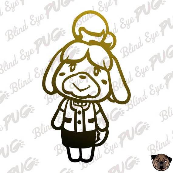 Isabelle Flat Svg Nintendo Animal Crossing New Leaf City Etsy