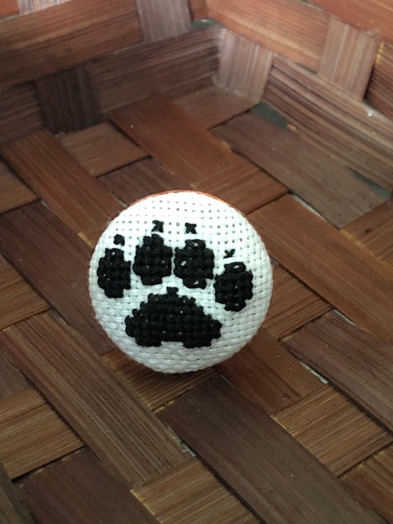 comes with a silver box and a free shipping worldwide Unique handmade embroidery ring for puppy and kitty lovers perfect for present