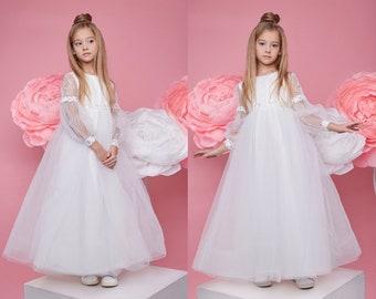 Georgia Flower Girls Dress Bolero Set Christening Birthday Party Bridesmaid Gown