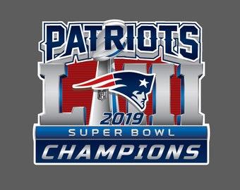 f59aeafc3 New England Patriots 2019 Super Bowl LIII 53 Champions Wall Decal