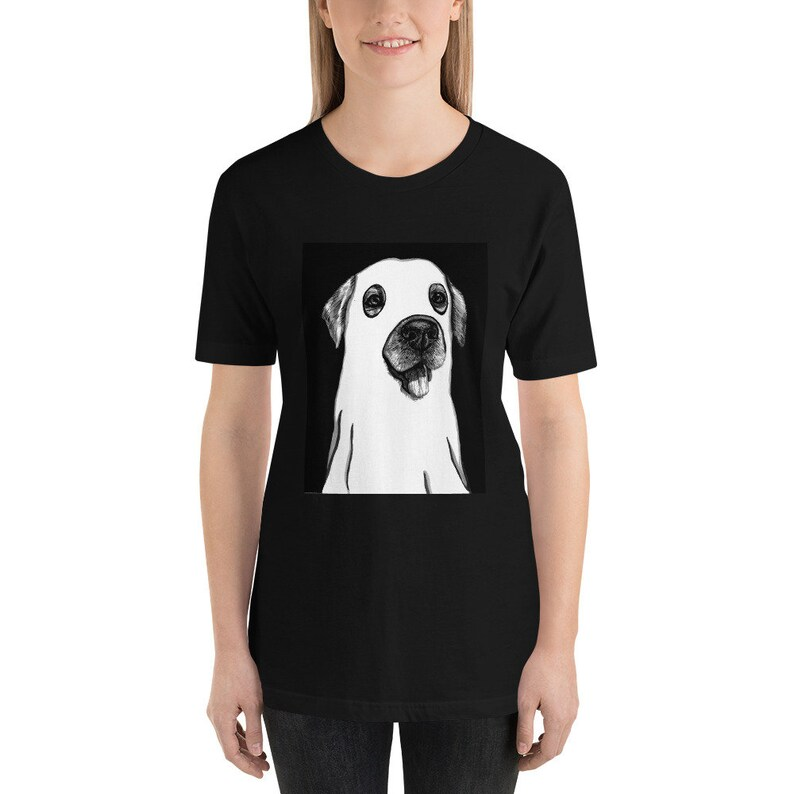 Labrador Ghost Dog Tee Cute Funny Halloween Unisex Tshirt  Gift for Dog Lovers  BOO Trick or Treat Gothic Goth Spooky Dog Tee