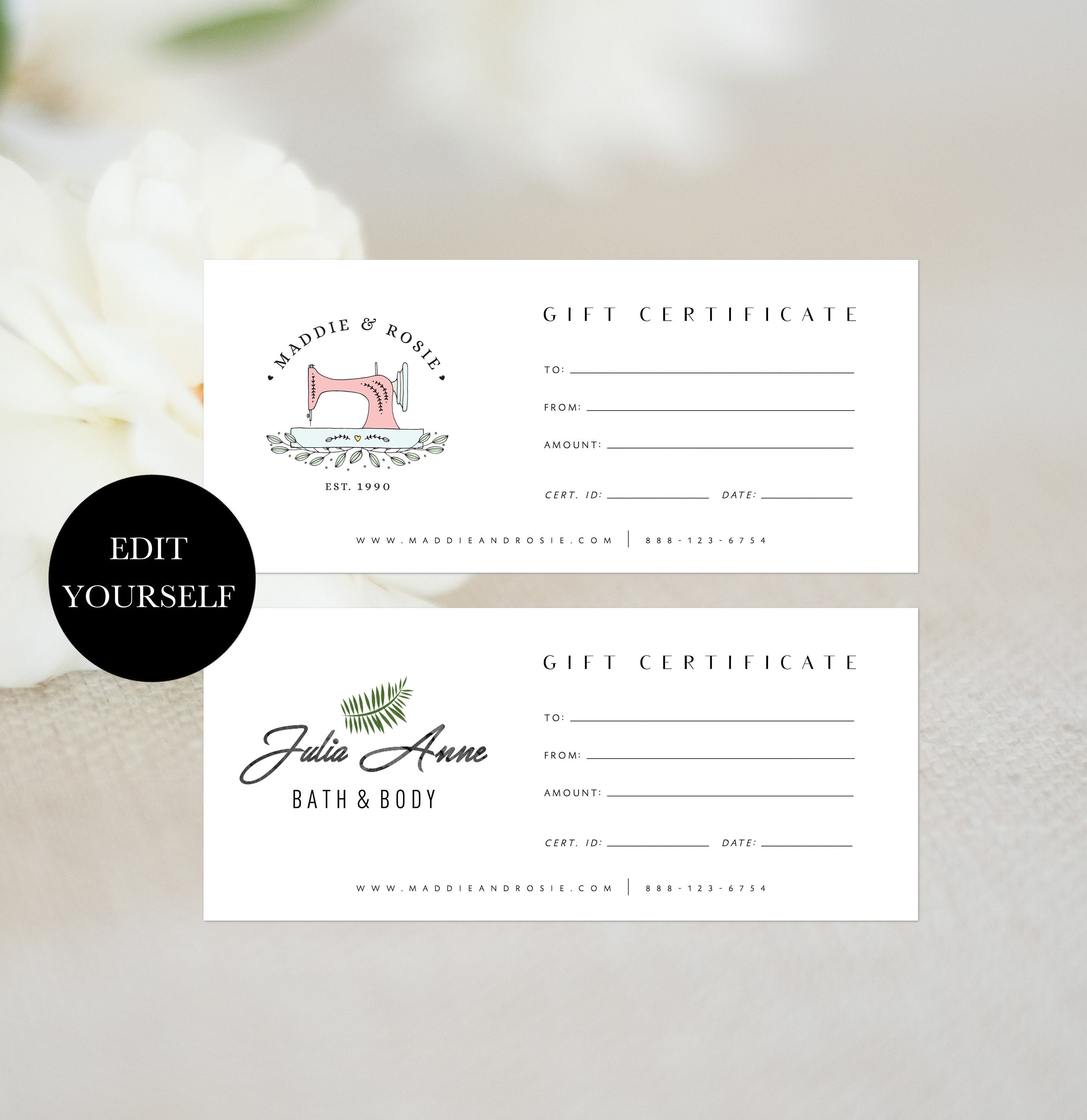 gift voucher printable gift certificate template diy gift