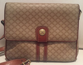 1fab91f51d17 Vintage Celine Macadam Crossbody Bag