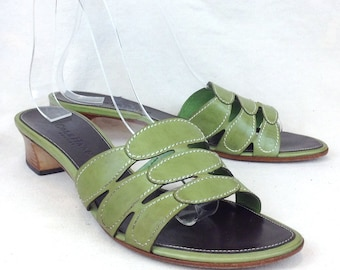 57b6c346301c Vintage Cole Haan Resort Size 7 B US Women s Leather Slides Sandals Shoes