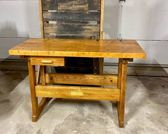 Antique Workbench Etsy