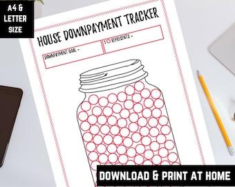 House Downpayment Mason Jar Tracker