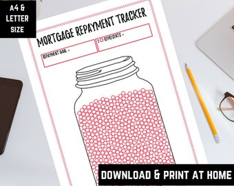 Mortgage repayment tracker, repayment goal tracker