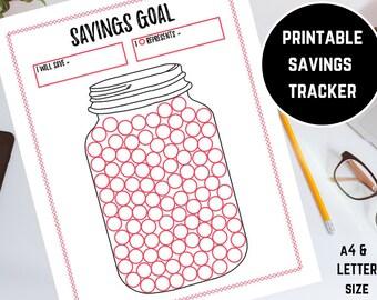 image regarding Savings Jar Printable referred to as Price savings printable Etsy