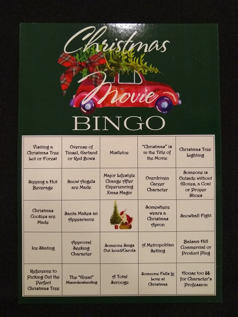 all new 2020 hallmark christmas movie bingo reusable dry