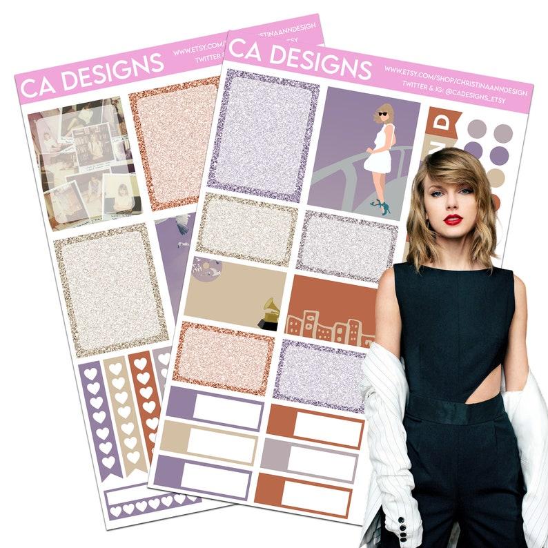 Taylor Swift 1989 Vertical Planner Sticker Kit image 0