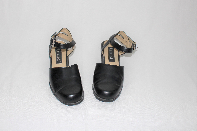 41d960bd792 black chunk heel ankle strap sandals 90s vegan minimalist