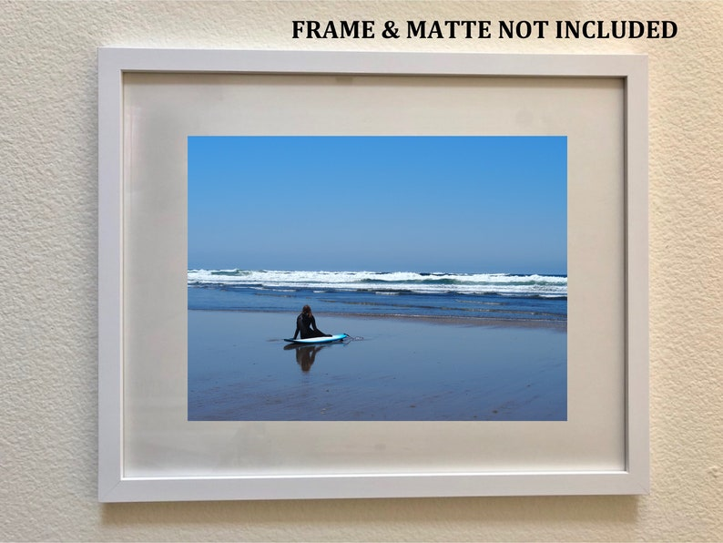 Nature Photography Photo Print Surfer Watching Pacific Ocean Waves