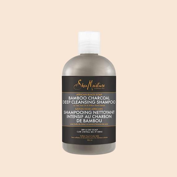 Shea Moisture African Black Soap Bamboo Charcoal Deep Cleansing Shampoo Tiefenreinigendes Shampoo