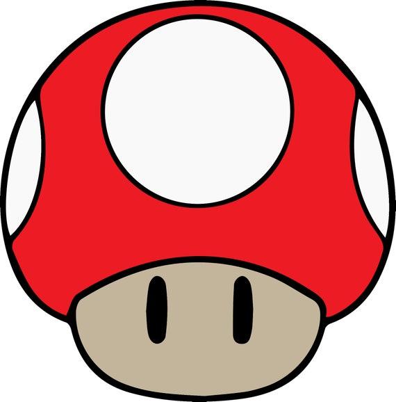 Super Mario Brothers Mushroom Cut File Svg Layered