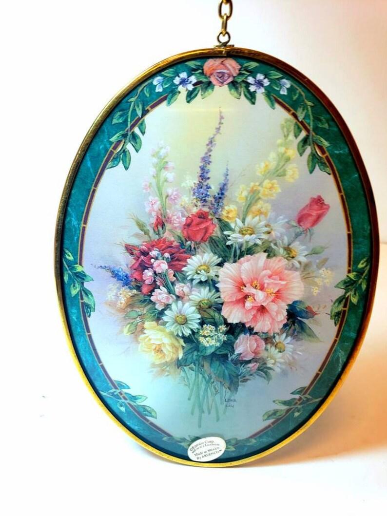 Reflections of Beauty Lena Liu Stained Glass Suncatcher Lena Liu Collectible Stained Glass Garden Suncatcher Windchime