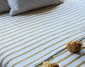 FREE SHIPPING Moroccan blanket, pom blankets, bed spread, moroccan throw blanket, cotton moroccan bedding, throw blankets, berber decor