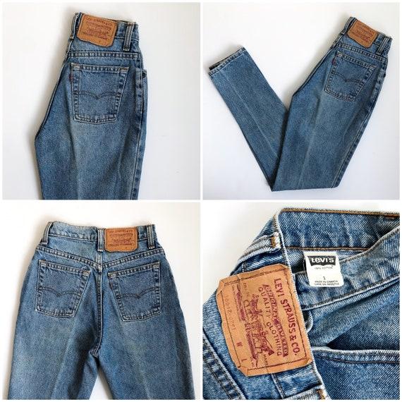 Rare! Vintage 512 Levi's Jeans size 23/24 XS XXS - image 6