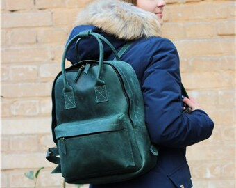 6ba5936f5fc Leather backpack laptop 13 inch custom backpack travel ipad case bag school  backpack street backpack mini backpack genuine backpack