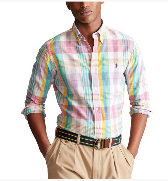 NWT Brand New Polo Ralph Lauren Classic Fit Madras
