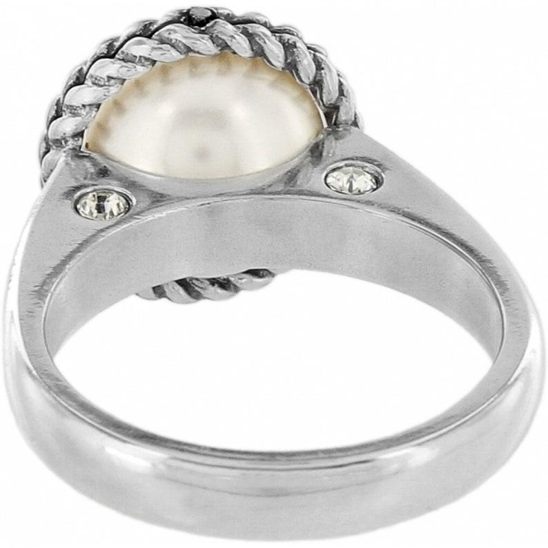 Size 89 Silver platedPearl NWT Brand New Sea Gem Ring Women Jewelry Retired Design Rare Find Brighton