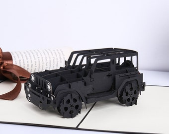 b0d27a404f8 Liif Trendy Jeep Greeting Pop Up Card For All Occasions