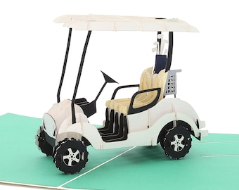 Liif Golf Cart Greeting Pop Up Card For All Occasions Retirement Happy Birthday Fathers Day Gifts Men Women
