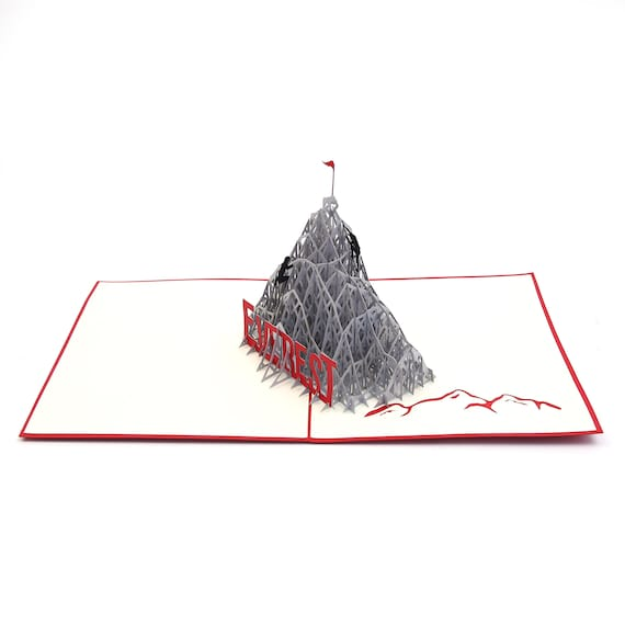Fathers Day Pop Up Card for all occasions Get Well Liif Everest Climb Pop Up Card Card Congratulations New Business Handmade Gift Birthday