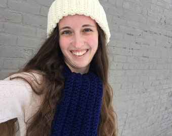 Royal Blue Scarf and Hat Combo