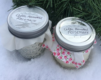 Soy Candle (Rosemary Essential Oils)