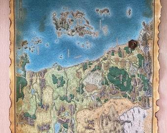 Custom Distressed D&D Map