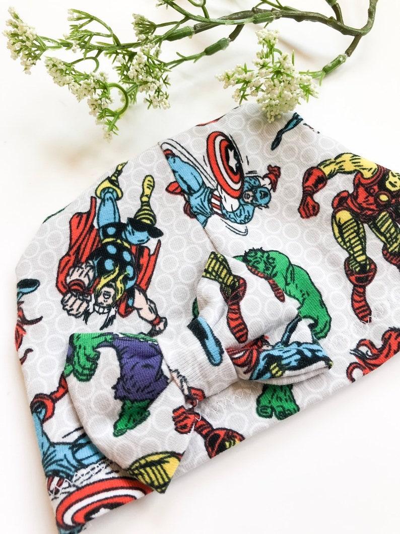 Avengers Baby Hat Newborn Marvel hat