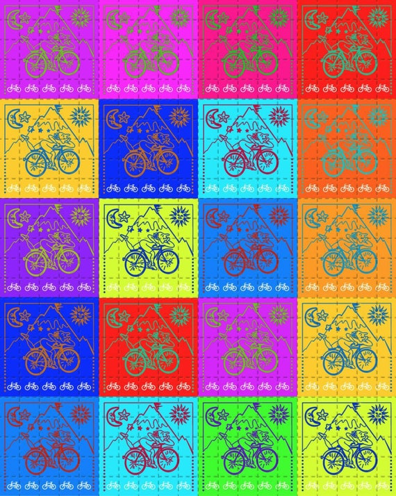 bicycle day psychedelic goa art ALBERT HOFMANN 1943-2019 blotter art