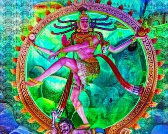 "Psychedelic Blotter Art // AL SHIVA  // 900 Hits 7.5"" x 7.5"" al shiva dee edition"