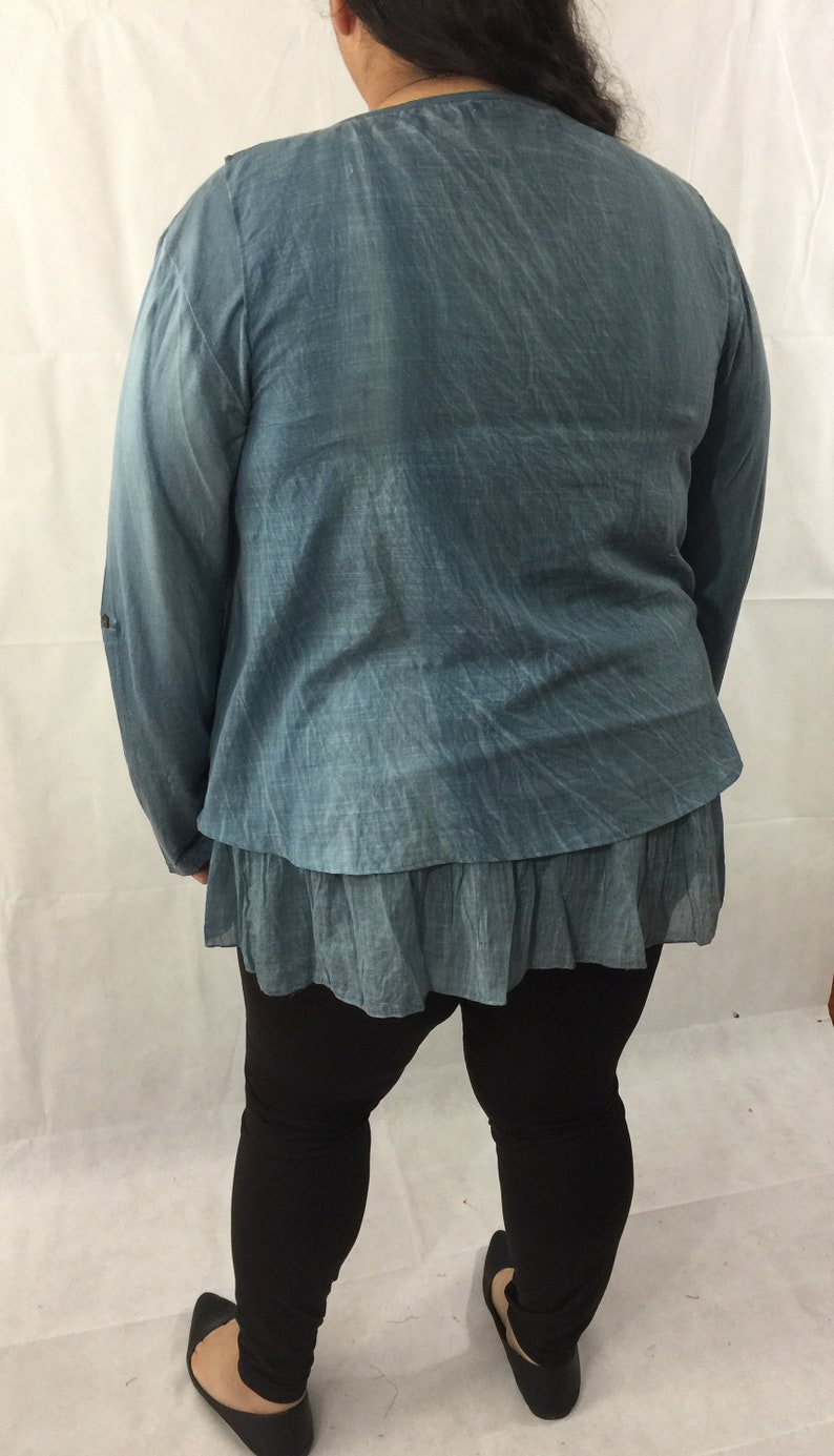 Blue tie dye long sleeve stretchy dress Classy blue lace floral top sleeveless lace top. woman tie dye 2 pieces set