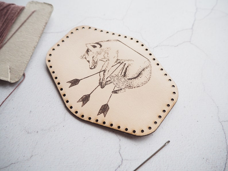 Fox Leather Patch