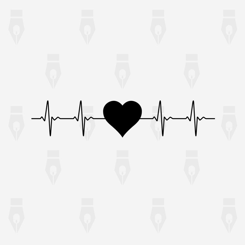Cutting or more png dxf Heart Heartbeat svg Instant files included svg Heart Heartbeat digital clipart file for Design Printing