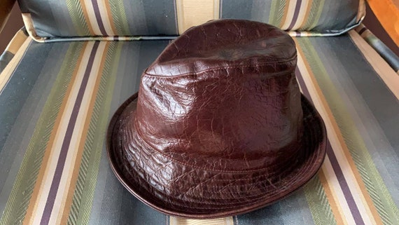 Vintage Kangol Men's Trilby Hat Leather Hat/Men's