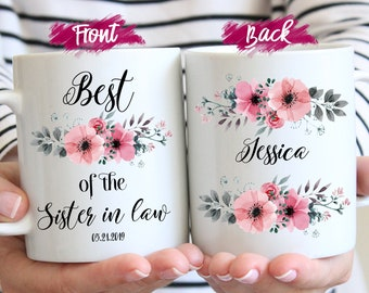 Personalized Best Of The Sister In Law Mug Coffee Birthday Gift Wedding For Worlds