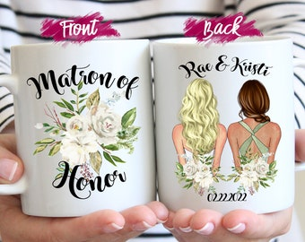 Bridesmaid Proposal Maid of Honor Proposal Matron of Honor Mug Personalized Bridesmaid Mug Custom mug Bridesmaid gift box
