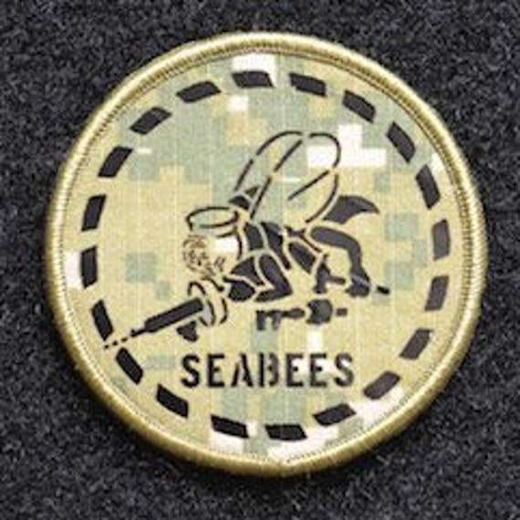 Seabee NWU Type 3 Velcro Patch (Glow in the dark)