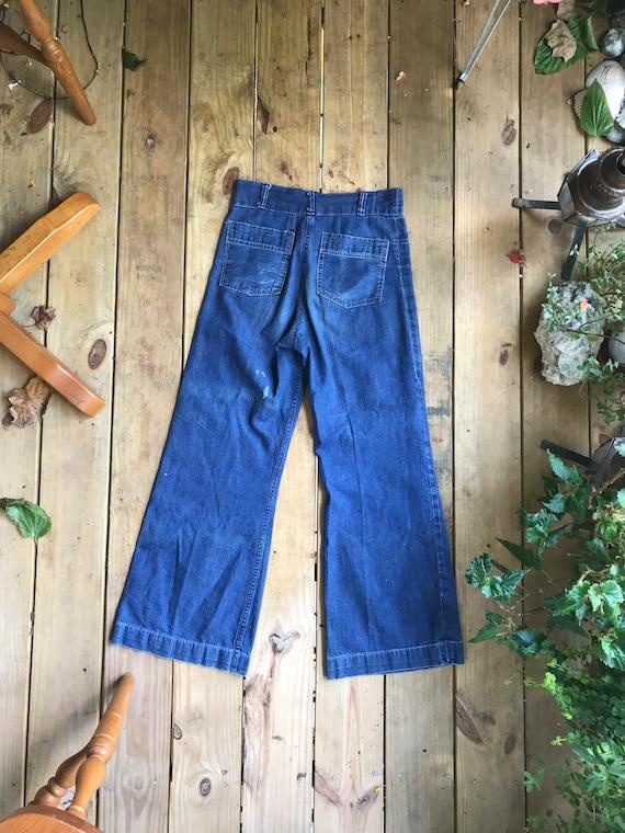 WW2 1940s Navy USN Sailor Jeans Denim Pants Dunga… - image 3
