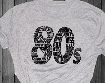 80s bands | Etsy