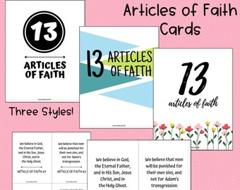 Article of Faith Printable & Punch Cards