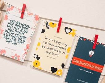 Monthly Focus Prints 2019 for Come Follow Me individuals & families lessons