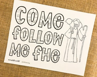 New Testament Coloring Tracker for Come Follow Me FHE lessons