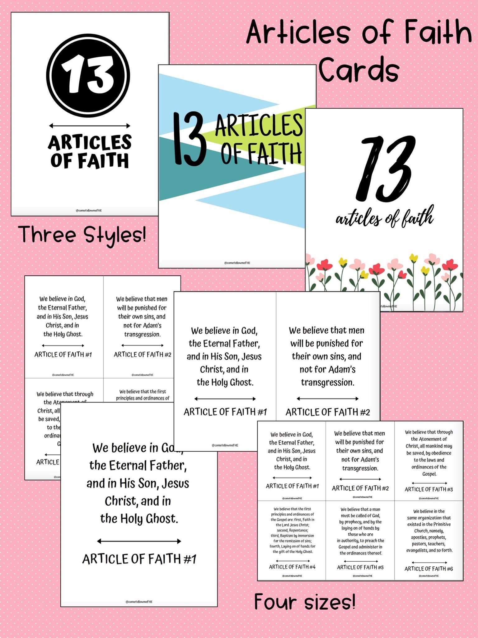 picture relating to Articles of Faith Printable Cards titled Write-up of Religion Printable Punch Playing cards