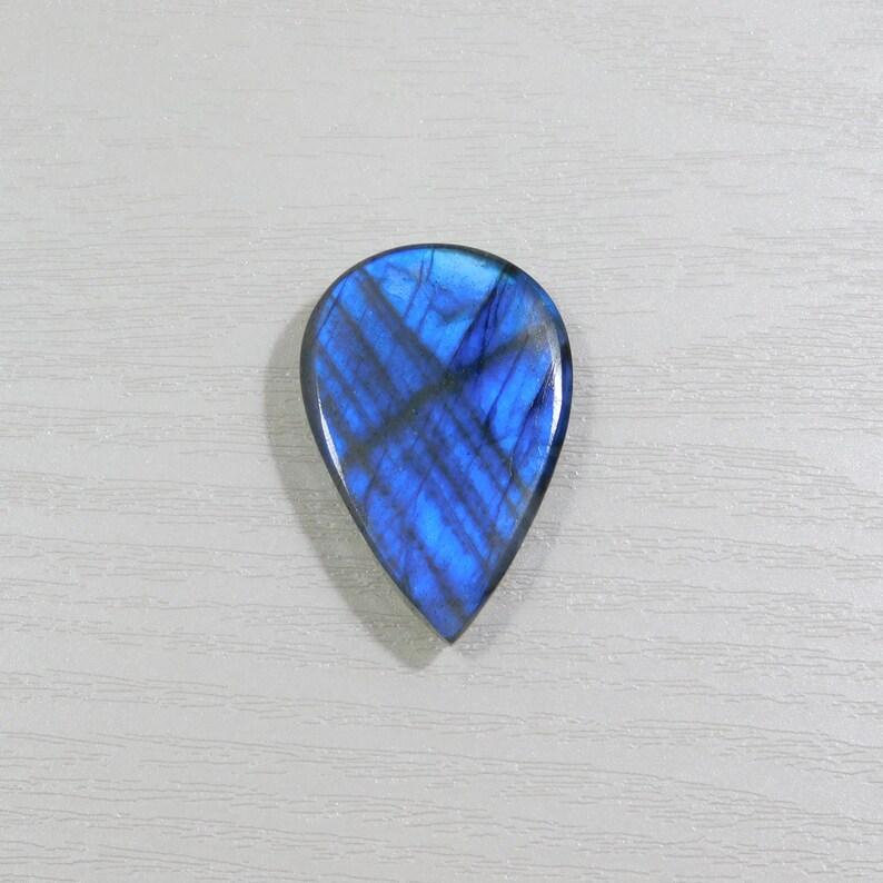 Pear Shape 56Cts Pendant Stone 36*24*8mm Beautiful Labradorite Cabochon Gemstone,Full Blue Flashy Labradorite Cabochon AAA Quality