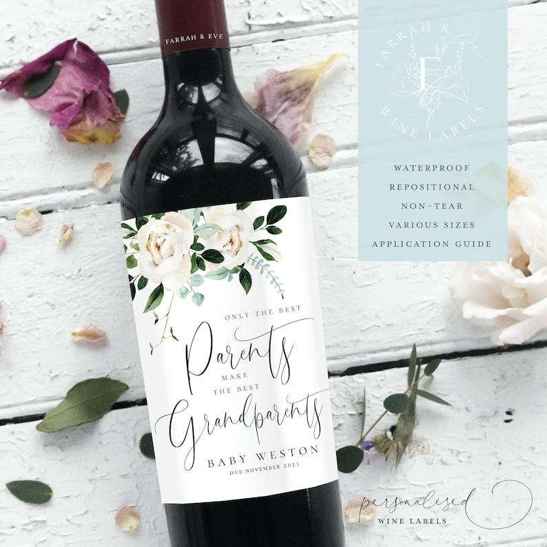ANNONCE GROSSESSE Étiquettes de vin | A découvrir sue le blog : keepcoolnewmom.com