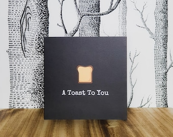 Congratulations Card - A Toast To You - Punderful Card