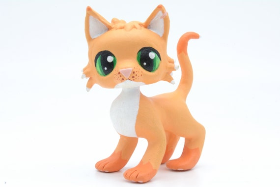 Ivypool Warrior Cats LPS Littlest Pet Shop Clay Custom Bobble Head Figure With Gift Box Made to Order